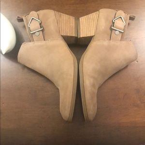 Franco Sarto Booties with Buckle Detail